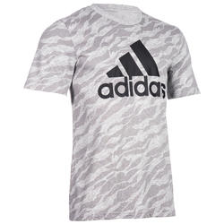 Heren T-shirt Adidas 500 voor gym en stretching grijs AOP