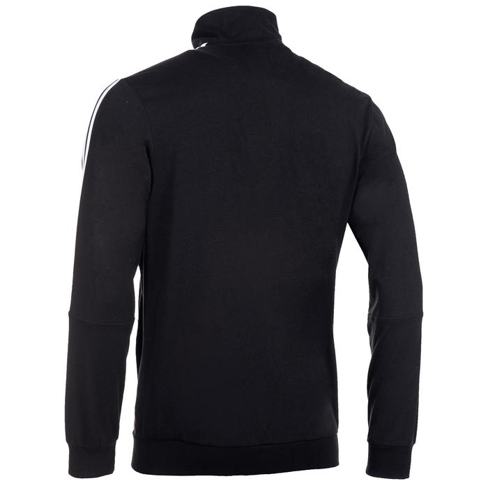 Trainingsjacke 100 Gym Stretching Herren schwarz