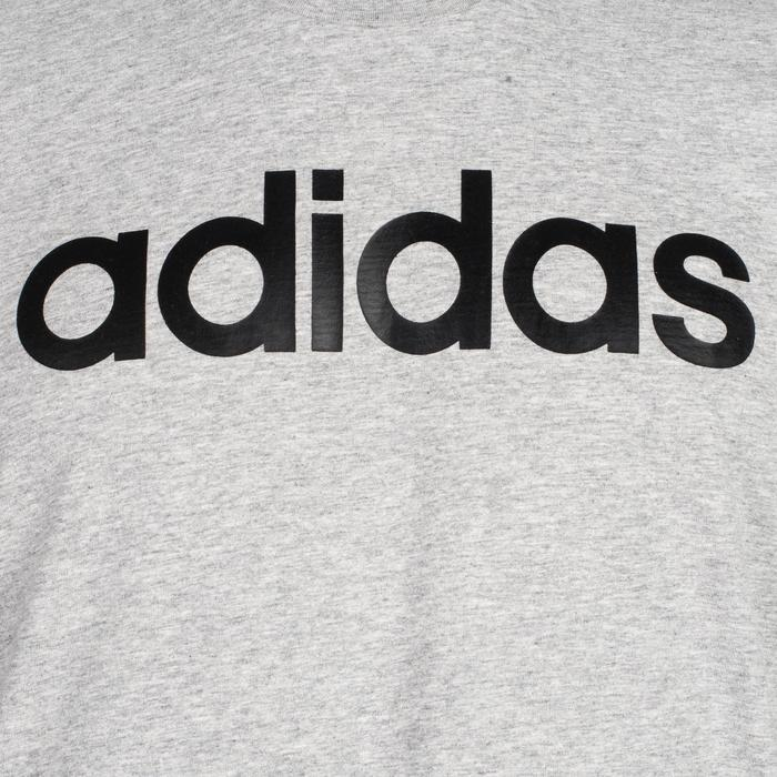 Camiseta Manga Corta Gimnasia Pilates Adidas Linear 500 Hombre Gris
