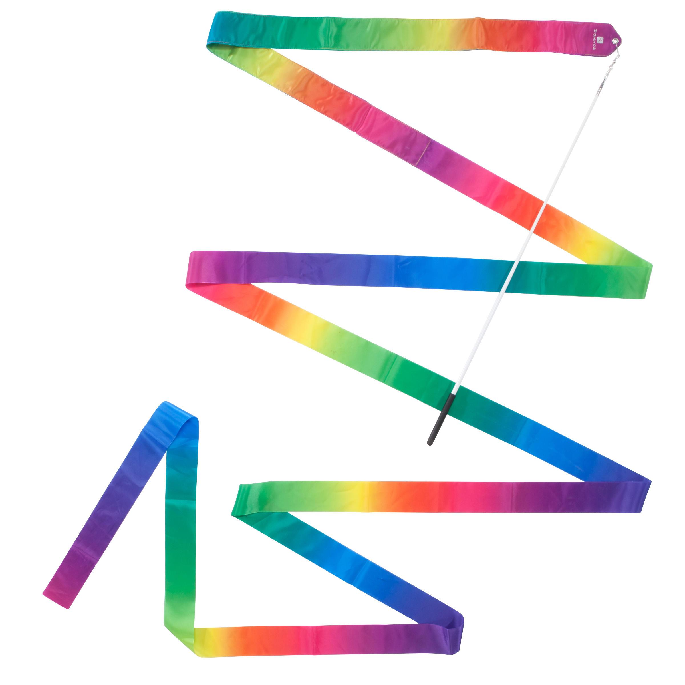 """Ruban de gymnastique rythmique (GR) de 19'8"""" multicolor"""