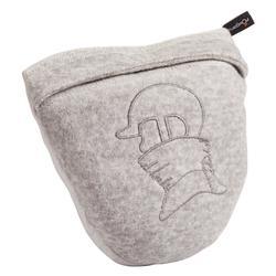 Fleece nekwarmer met borststuk voor paardrijden volwassenen gemêleerd grijs
