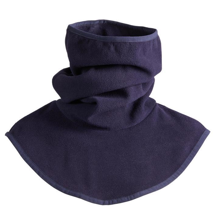 Fleece nekwarmer met borststuk voor volwassenen ruitersport marineblauw