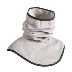 Fleece nekwarmer met borststuk voor volwassenen, ruitersport, grijs