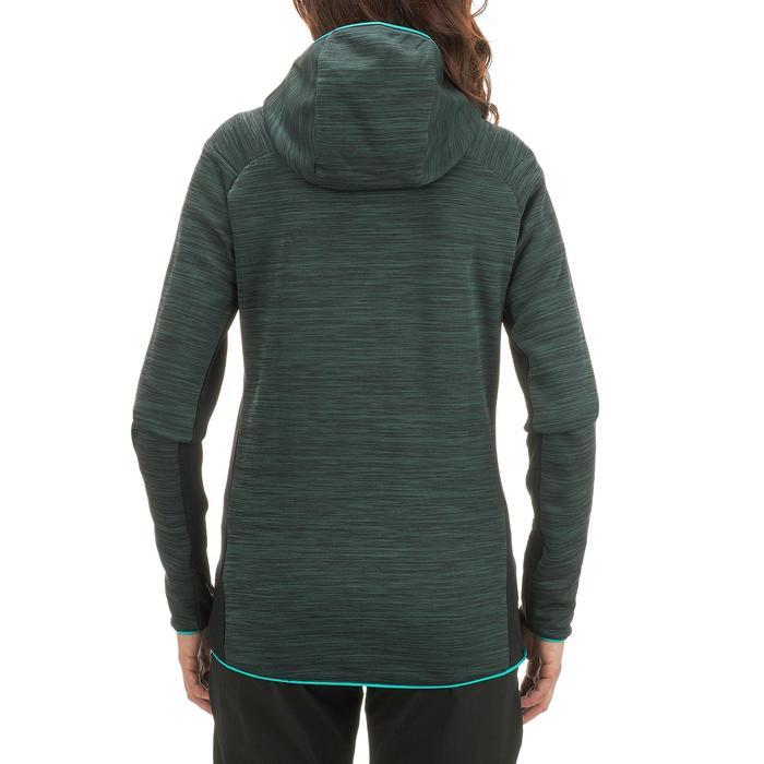 Chaqueta polar de senderismo montaña mujer MH900 Verde jaspeado