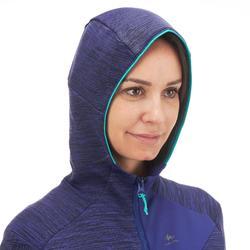Chaqueta polar de senderismo montaña mujer MH900 Azul jaspeado