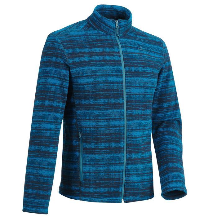 男款登山健行刷毛外套MH120-藍色