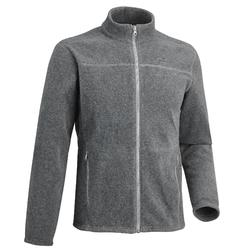MH120 Men's Mountain Hiking Fleece Jacket - Mottled Grey