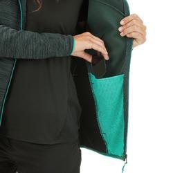 Fleece damesvest voor bergwandelen MH900 gemêleerd groen