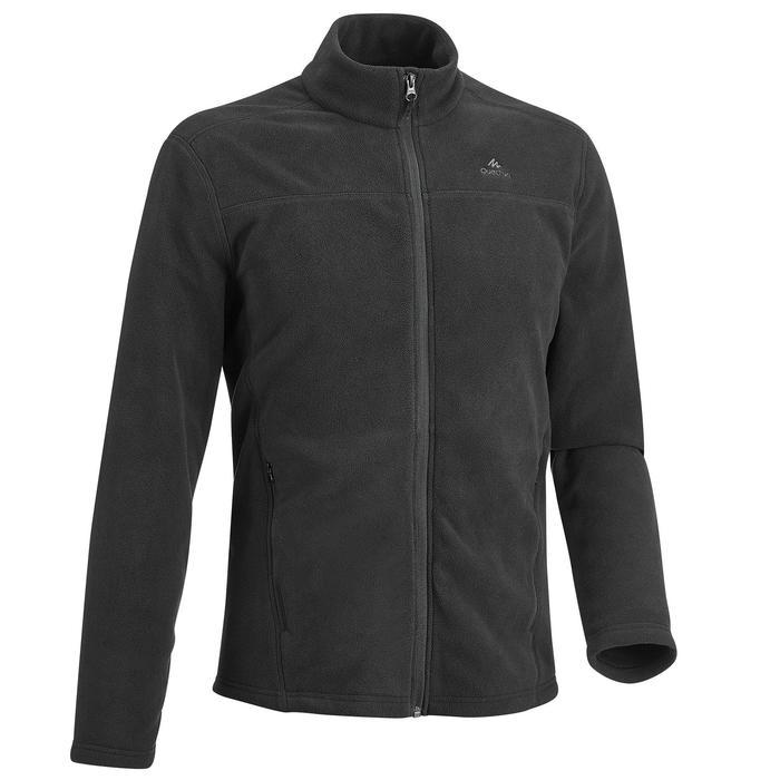 MH120 男款登山健行刷毛外套 - 黑色