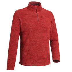 Forclaz 50 Men's Mountain Hiking Fleece - Mottled Red