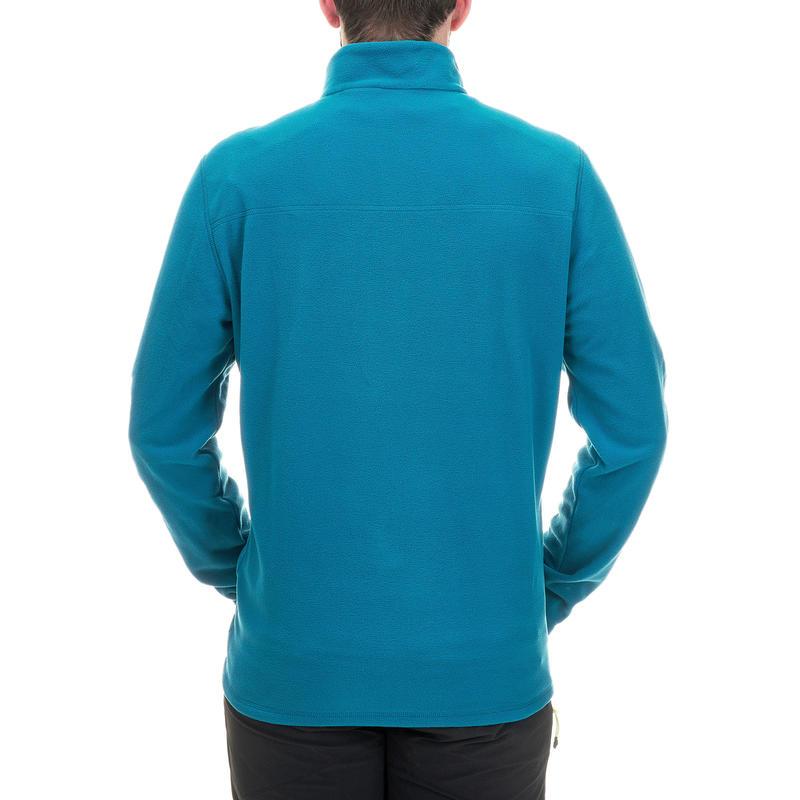 เสื้อผ้าฟลีซผู้ชายสำหรับใส่เดินป่าบนภูเขารุ่น MH100 (สีฟ้า Turquoise)