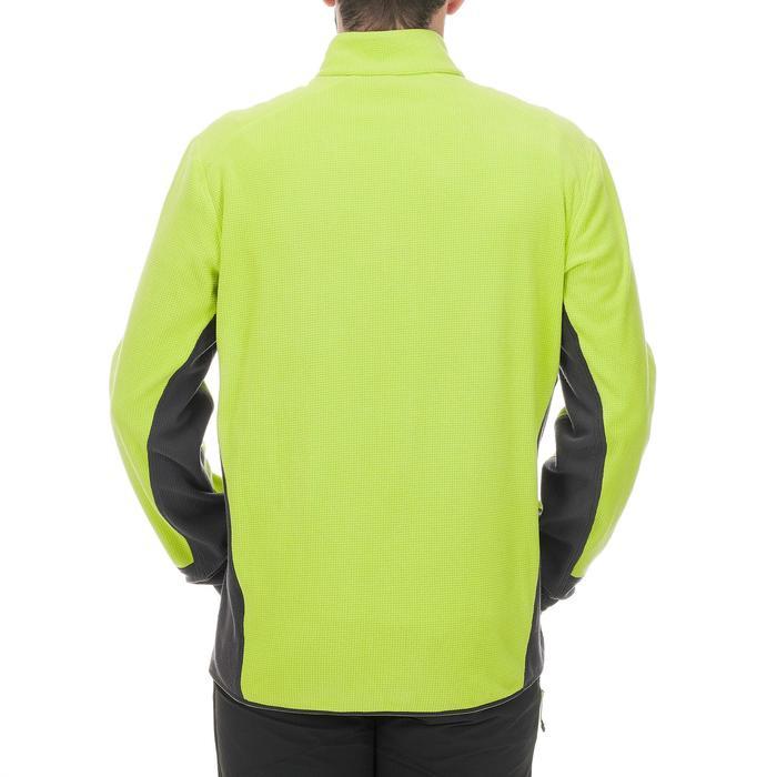 Fleece herenvest voor bergwandelen MH520 geel