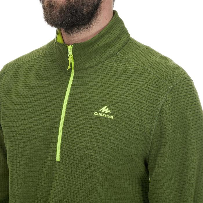 Fleecepullover Bergwandern MH500 Herren grün