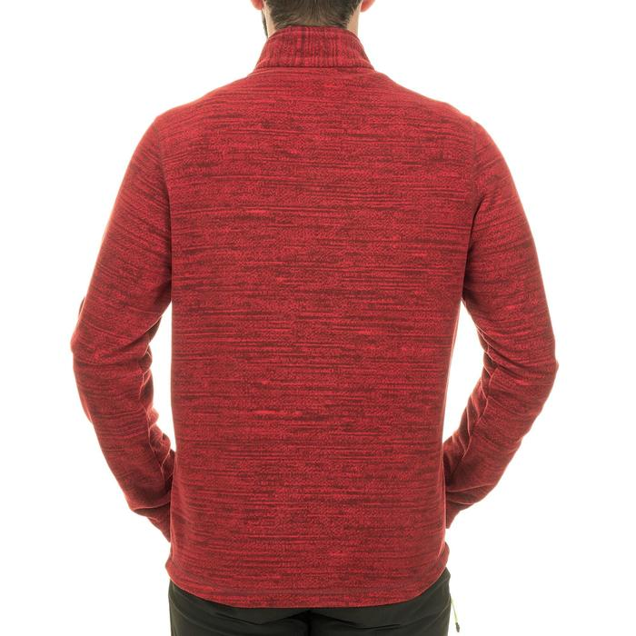 Polaire randonnée montagne homme Forclaz 50 rouge chiné