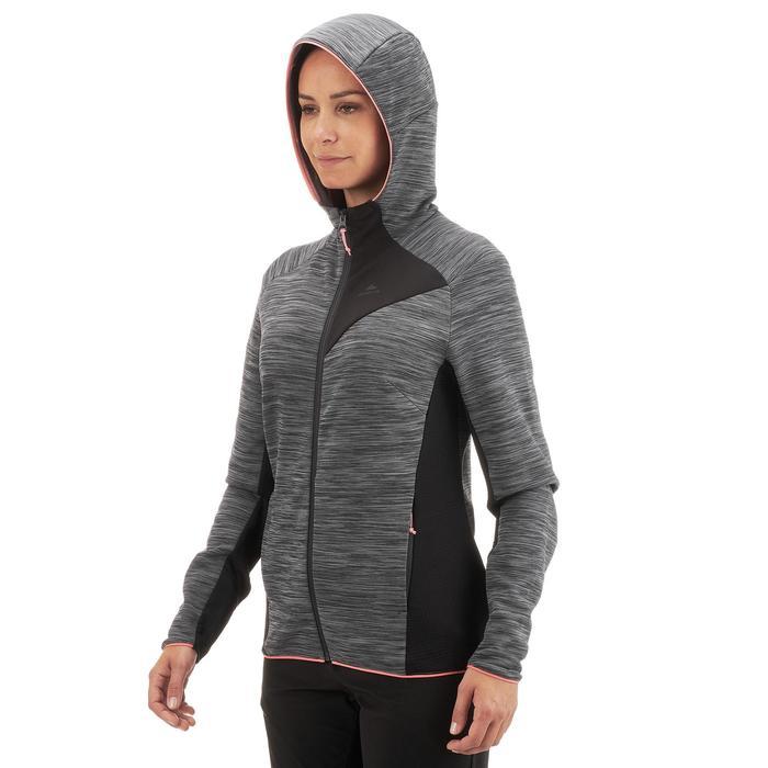 Fleece damesvest voor bergwandelen MH920 gemêleerd grijs