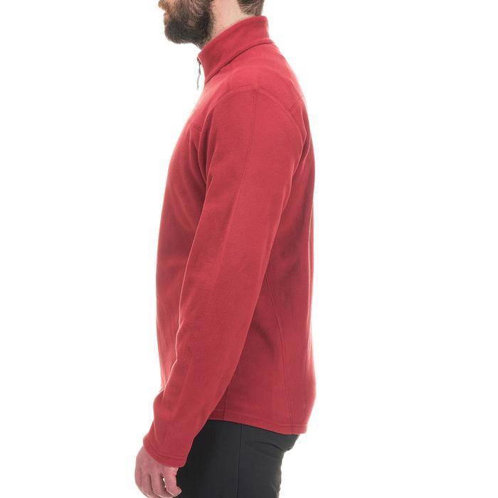 男款登山健行刷毛衣MH120-栗色