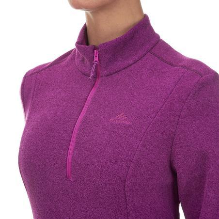 Women's Mountain Walking Fleece MH100 - Purple