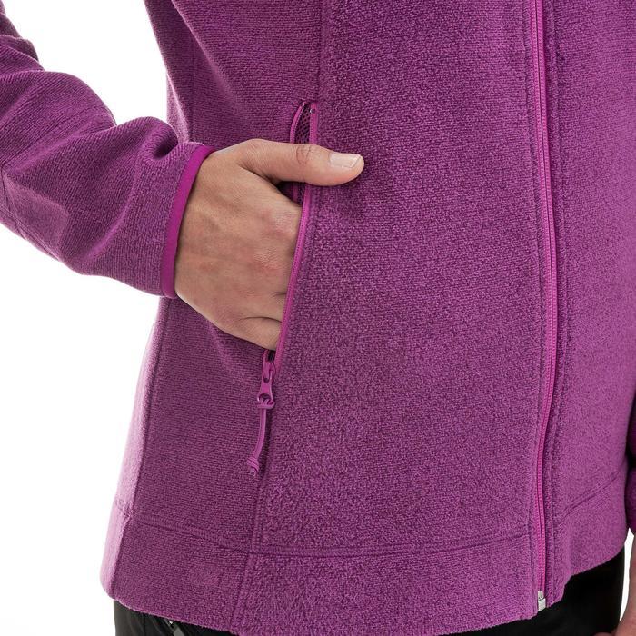 Fleece damesvest voor bergwandelen MH120 paars