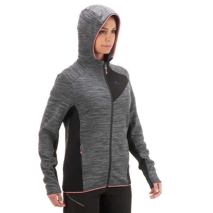 Fleecejacke Bergwandern MH900 Damen grau meliert
