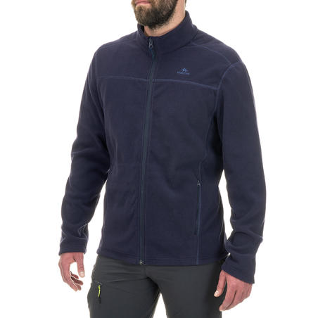 Jaket Fleece Hiking Gunung MH120 - Navy