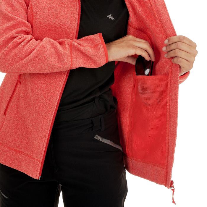 Veste Polaire de randonnée montagne femme MH120 Rouge
