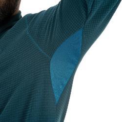 Herenfleece voor bergwandelen MH500 turquoise