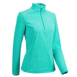 Polaire de randonnée montagne femme MH100 Turquoise Rayé