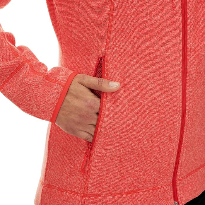 Fleece damesvest voor bergwandelen MH120 rood