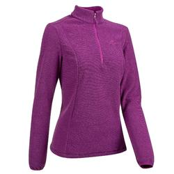 Women's Mountain Walking Fleece MH100 - Plum