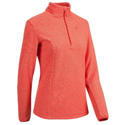 MH100 Women's Mountain Hiking Fleece - Coral