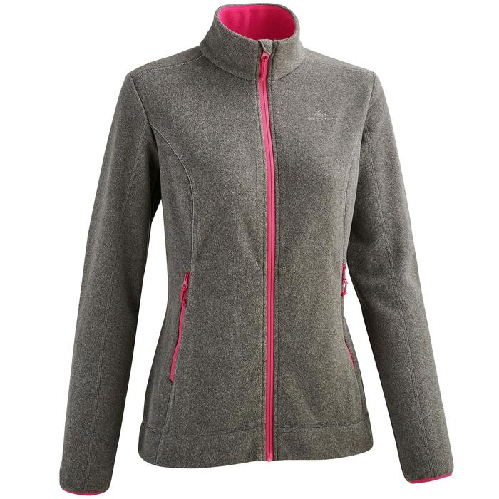 MH120 Women's Mountain Hiking Fleece Jacket - Black