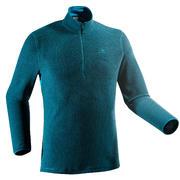 Moder moški pohodniški pulover iz flisa MH500