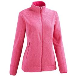 Women's MH120 black mountain hiking fleece jacket