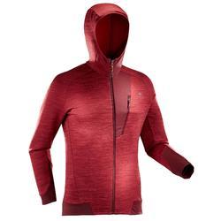 MH900 Men's Mountain Hiking Fleece Jacket - Mottled grey