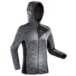MH900 Women's Mountain Hiking Fleece Jacket - Mottled Grey