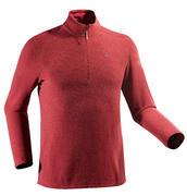 Rjav moški pohodniški pulover iz flisa MH500