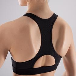 Sport-Bustier 500 Cardio-/Fitnesstraining Damen schwarz