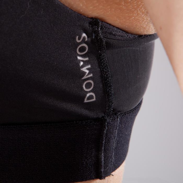 Brassière fitness cardio femme imprimés géométriques noirs 500 Domyos - 1501046