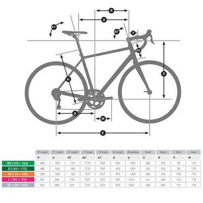 Triban 100 Flat Bar Cycle Touring Road Bike