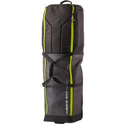 高爾夫旅行用外罩滾輪式球袋-深灰色