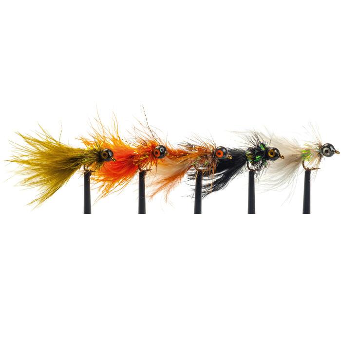 Set kunstvliegjes voor vliegvissen x5 streamers