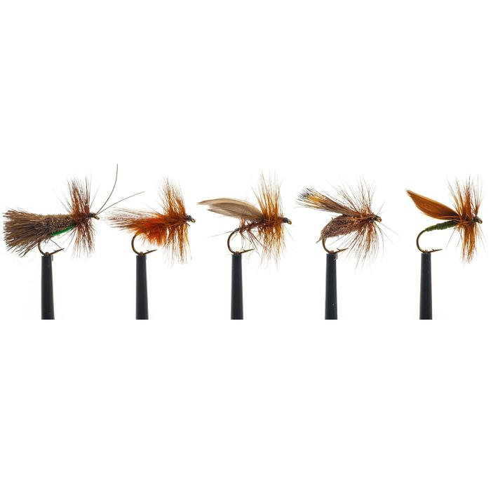 Sedges pesca con mosca seca sedges x5