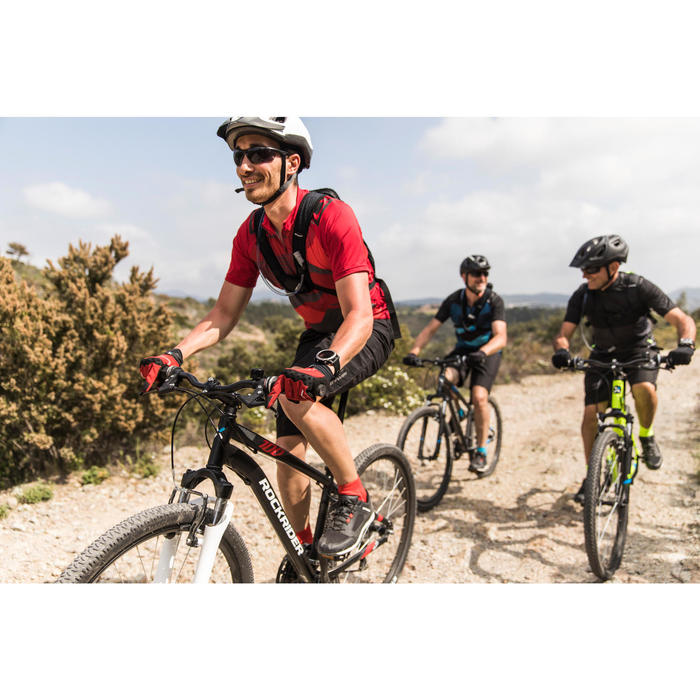 "MTB Rockrider ST100 27.5"" B'TWIN 3x7-speed mountainbike Zwart/rood/Wit"
