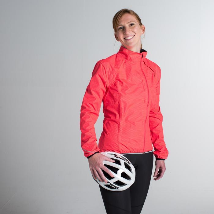 Fahrrad-Regenjacke Rennrad 500 Damen rosa