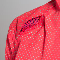 500 Women's Showerproof Cycling Jacket - Pink/Triangles