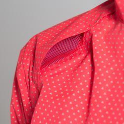 Fietsregenjasje 500 dames roze driehoeken