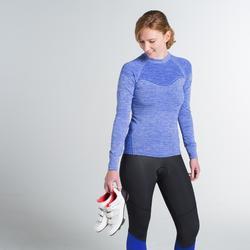 Sous-vêtement manches longues vélo femme 500 bleu