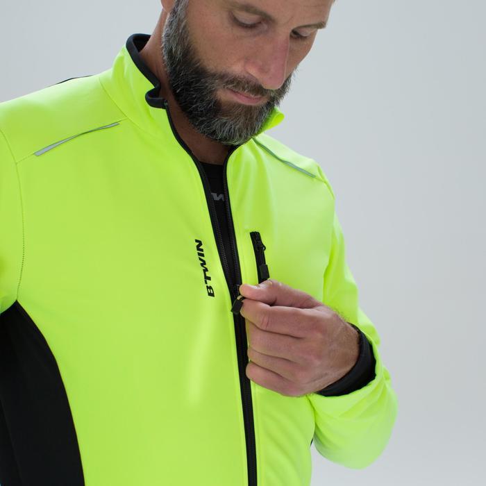 Winter fietsjas 100 voor heren cyclotoerist geel