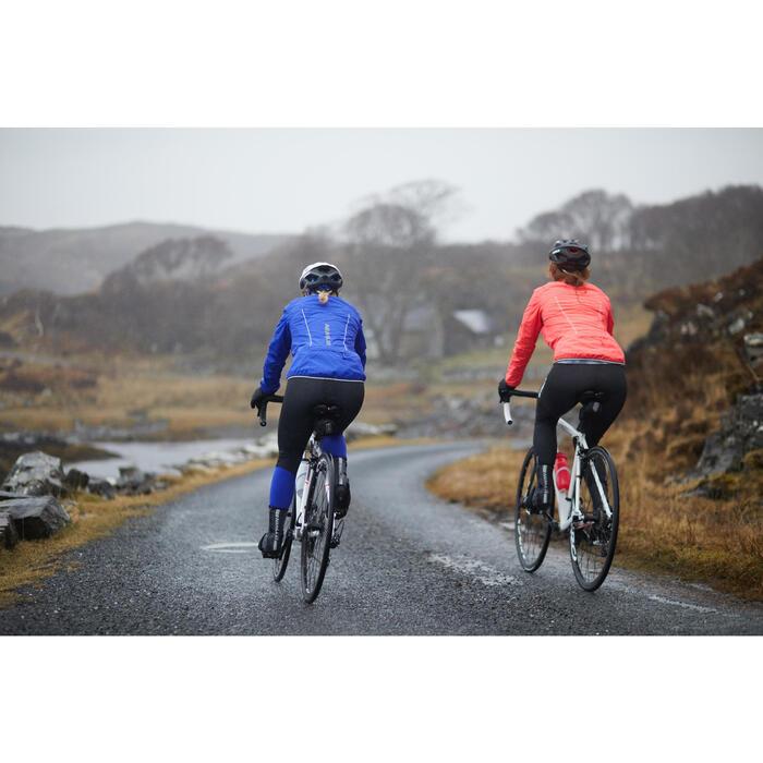Mallas largas ciclismo carretera cicloturismo mujer 500 negro azul