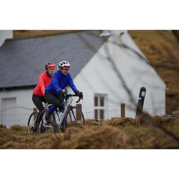 Collant vélo route cyclotourisme femme 500 noir bleu